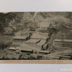 Postales: CASTELLAR DE NUCH-FABRICA CLOT DE MORO CIMENT PORTLAND ASLAND-THOMAS-VER REVERSO-(63.259). Lote 180034458