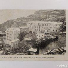 Postales: BERGA-ROCA DE LA POLA Y FABRICA SR PUJOL-IMP·J.HUCH-VER REVERSO-(63.260). Lote 180034527
