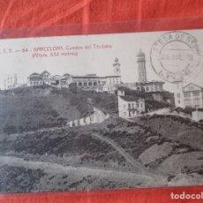 Postales: A. T. V. 64. BARCELONA. CUMBRE DEL TIBIDABO. (ALTURA 532 METROS) AÑO 1923. POSTAL 9 X 14 CM.. Lote 180044255