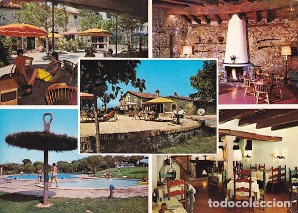 RESTAURANTE MAS FLASSIA VIDRERAS GIRONA ED. MALLAL AÑO 1971 (Postales - España - Cataluña Moderna (desde 1940))