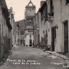 Postales: PUERTO DE LA SELVA. CALLE DE LA FUENTE. FARGNOLI. Lote 180097591