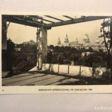 Postales: BARCELONA. EXPOSICIÓN INTERNACIONAL DE 1929. POSTAL NO.6, PALACIO NACIONAL DESDE LA ROSALEDA.. Lote 180144612