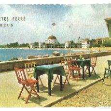 Postales: POSTAL SALOU VISTAS HOTEL LA TERRAZA Y PLAYA DEPORTES FERRE REUS 1961. Lote 180234543