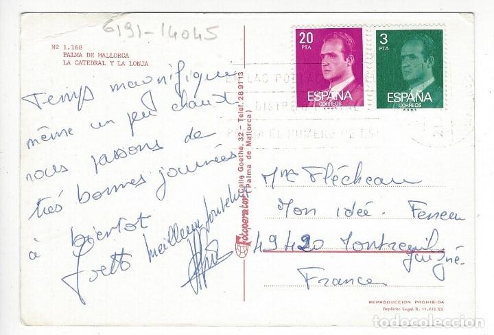 Postales: 1168 - PALMA DE MALLORCA.- La Catedral y la Lonja - Foto 2 - 180243963