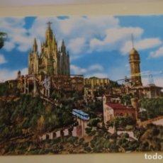 Postales: BARCELONA TIBIDABO 2044 ZERKOWITZ 2044 BASÍLICA NACIONAL EXPIATORIA DEL SAGRADO CORAZÓN. Lote 180285027