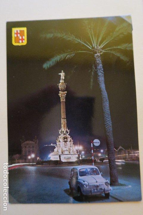 BARCELONA MONUMENTO A CRISTOBAL COLÓN. VISTA NOCTURNA 671 SOBERANA (Postales - España - Cataluña Moderna (desde 1940))