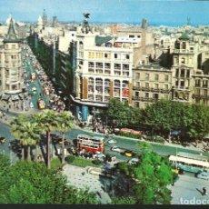 Postales: POSTAL BARCELONA - LA PLAZA UNIVERSIDAD Y CALLE PELAYO - CAMPAÑÁ 1958. Lote 180287212