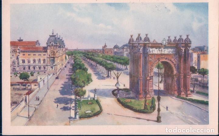 POSTAL BARCELONA - SALON DE SAN JUAN - B & P - DIBUJO (Postales - España - Cataluña Antigua (hasta 1939))