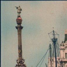Postales: POSTAL BARCELONA - MONUMENTO A COLON Y CARABELA SANTA MARIA - FOTO RELIEVE PAT 38958. Lote 180323166