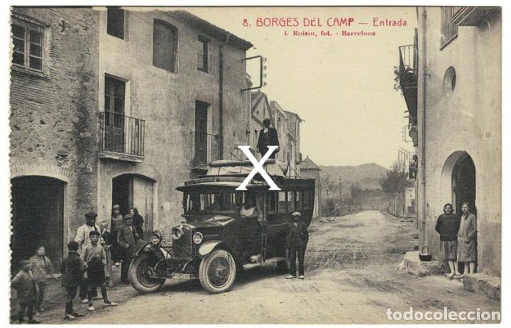 BORGES DEL CAMP (TARRAGONA) – NUM. 8 – ENTRADA. L. ROISIN – SIN CIRCULAR (COCHE) (Postales - España - Cataluña Antigua (hasta 1939))