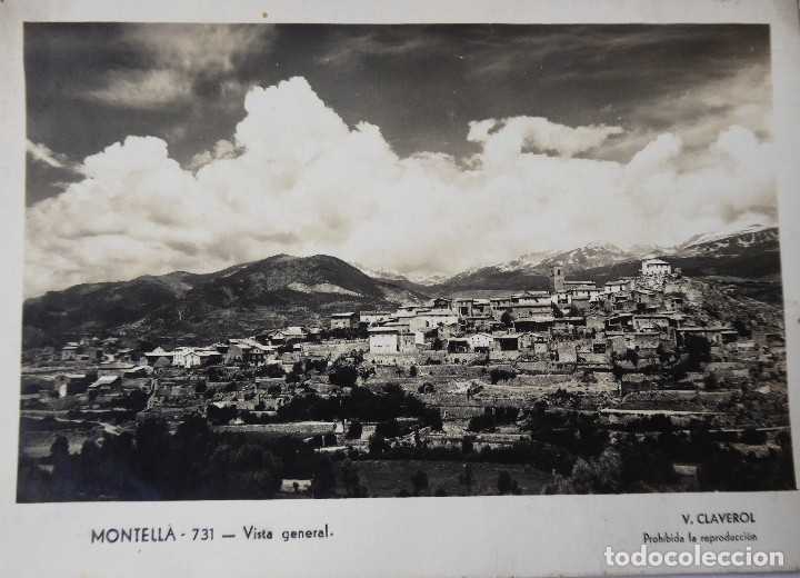 P-9561. MONTELLÁ (LLEIDA). VISTA GENERAL. AÑO 1953. CIRCULADA (Postales - España - Cataluña Moderna (desde 1940))
