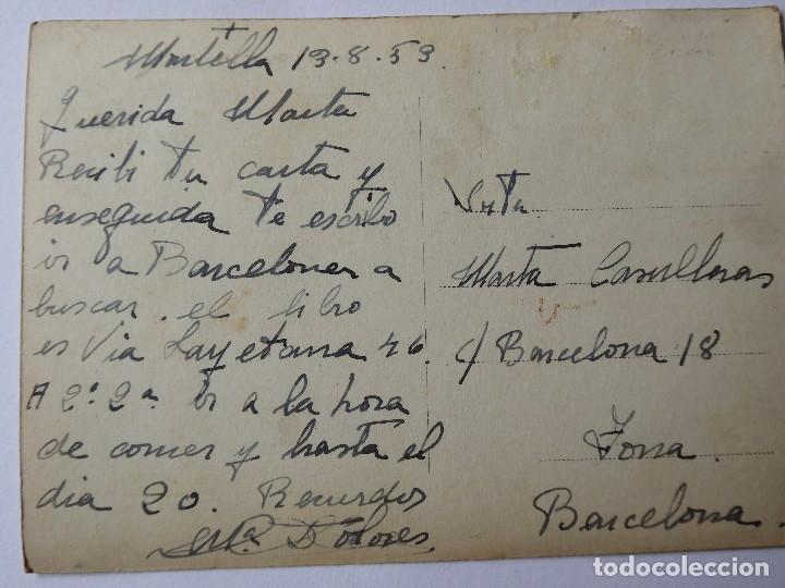 Postales: P-9561. MONTELLÁ (LLEIDA). VISTA GENERAL. AÑO 1953. CIRCULADA - Foto 3 - 180514002