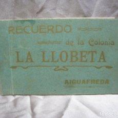 Postales: COLONIA LA LLOBETA. AIGUFREDA. ALBUM 17 POSTALES. Lote 180858306