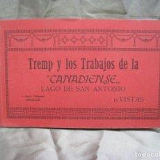 Postales: LAGO SAN ANTONIO. TREMP. TRABAJOS DE LA CANADIENSE. ALBUM 15 POSTALES. Lote 180858428