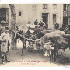 Postales: SANT CELONI.- Nº 6, VISTA PARCIAL PLAÇA BESTIÁ. ROISIN. BARCELONA- ANOTACIONES EN EL REVERSO. Lote 181393688