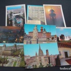 Postales: COLECCIÓN DE 9 POSTALES - LUGARES DESTACADOS DE LA CIUDAD DE BARCELONA - AÑOS 60 70 - SALIDA 0,01€. Lote 181414455