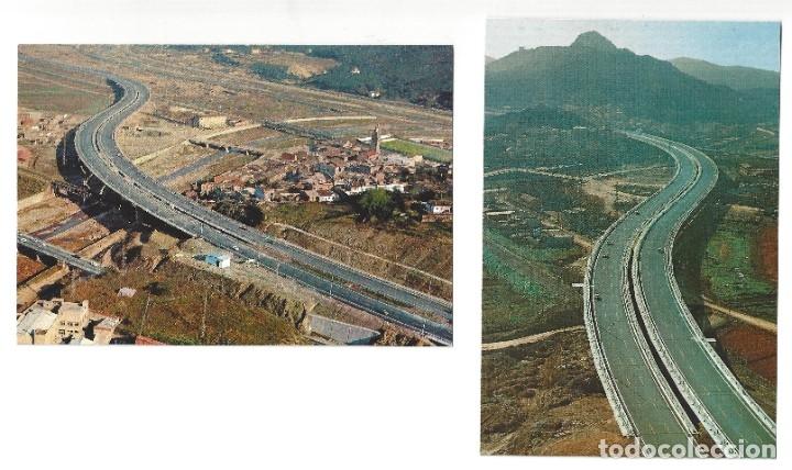 LOTE DE 2 POSTALES- AUTOPISTAS DEL MEDITERRÁNEO.- MONTCADA. BARCELONA- SIN CIRCULAR (1970) (Postales - España - Cataluña Moderna (desde 1940))