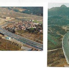Cartes Postales: LOTE DE 2 POSTALES- AUTOPISTAS DEL MEDITERRÁNEO.- MONTCADA. BARCELONA- SIN CIRCULAR (1970). Lote 181484387