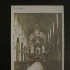 Postales: RIPOLL-INTERIOR ESGLESIA DEL MONESTIR-POSTAL FOTOGRAFICA-VER FOTOS-(63.554). Lote 181612723