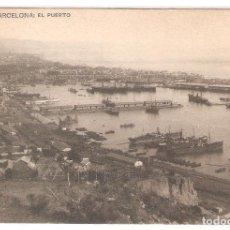 Postais: HAUSER Y MENET, NR. 3018, BARCELONA, EL PUERTO, DIVIDIDA, SIN CIRCULAR. Lote 182034772