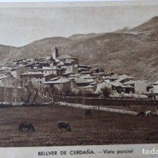 Postales: P-9581. BELLVER DE CERDAÑA. VISTA PARCIAL. CIRCULADA. AÑO 1956.. Lote 182042711