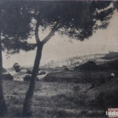 Postales: P-9592. CALDETAS (BARCELONA). PANÓRAMICA DE LA PLAYA. SIN CIRCULAR. Lote 182049216