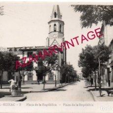 Postales: BARCELONA. MONTCADA REIXAC. PLAZA DE LA REPUBLICA. ED. J. BAXAULI.. Lote 182216067