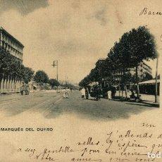Postales: BARCELONA, CALLE DEL MARQUES DEL DUERO.. Lote 182387305
