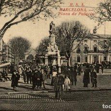 Postales: BARCELONA, PLAZA DEL PALACIO.. Lote 182387353