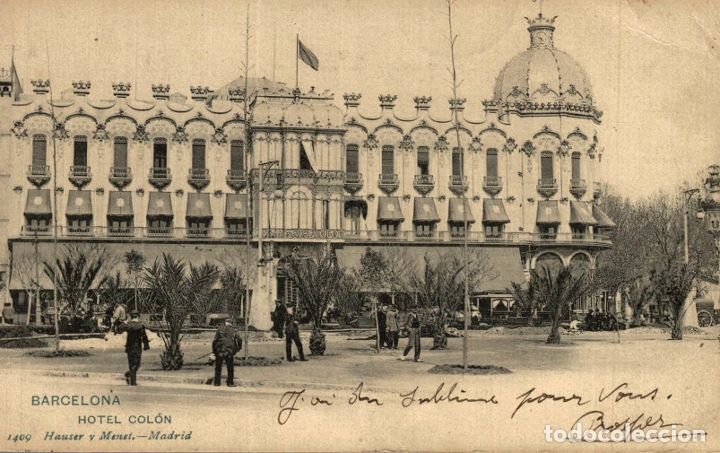 BARCELONA. HOTEL COLON (Postales - España - Cataluña Antigua (hasta 1939))