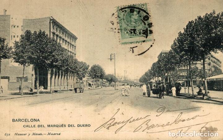 BARCELONA. CALLE DEL MARQUES DEL DUERO (Postales - España - Cataluña Antigua (hasta 1939))