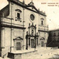 Postales: VICH. FACHADA DE LA CATEDRAL. Lote 182403300