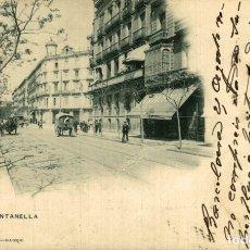 Postales: BARCELONA . CALLE FONTANELLA. Lote 182421128