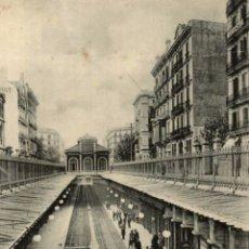 Cartes Postales: BARCELONA. CALLE DE ARAGON. ESTACION. Lote 182438813
