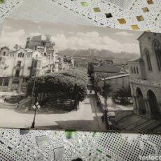 Postales: POSTAL MANRESA ( BARCELONA ) PASEO PEDRO LLL , CON VISTAS A MONTSERRAT E IGLESIA DE CRISTO REY. Lote 182483110