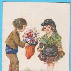 Postales: A LA MEVA BARRETINA... PARELLES CATALANES J. IBÁÑEZ NUM 1234. EDICIONES VICTORIA N. COLL SALIETI. Lote 182611843