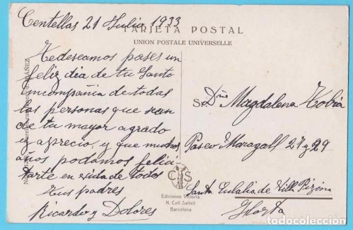Postales: NO UNA FLOR TAN SOLS... PARELLES CATALANES IBÁÑEZ NUM 1233. EDICIONES VICTORIA N. COLL SALIETI. 1933 - Foto 2 - 182612546