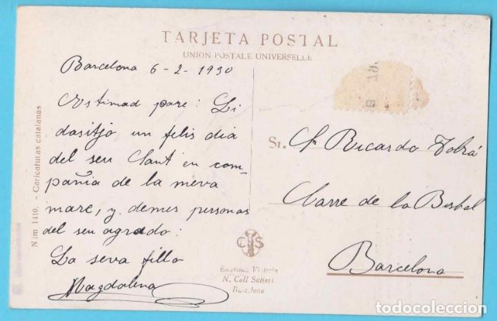 Postales: NO'T DEIXIS PORTAR, NINETA. JIMMY. 1419 CARICATURAS CATALANAS. EDICIONS VICTORIA N. COLL SALIERI - Foto 2 - 182613600