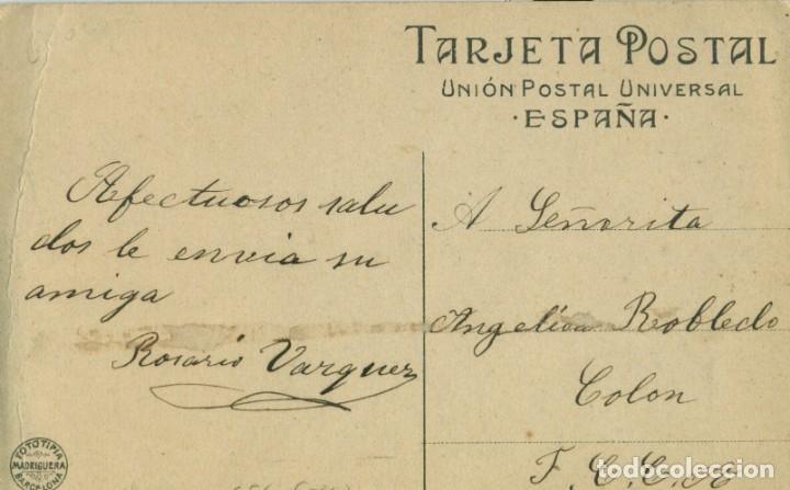 Postales: BARCELONA CUMBRE DEL TIBIDABO. PUBLICIDAD. ED. MADRIGUERA, HACIA 1910. MUY RARA. - Foto 2 - 182642876