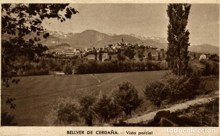 BELLVER CERDAÑA VISTA PARCIAL (Postales - España - Cataluña Antigua (hasta 1939))