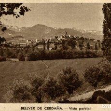 Postales: BELLVER CERDAÑA VISTA PARCIAL. Lote 182671701