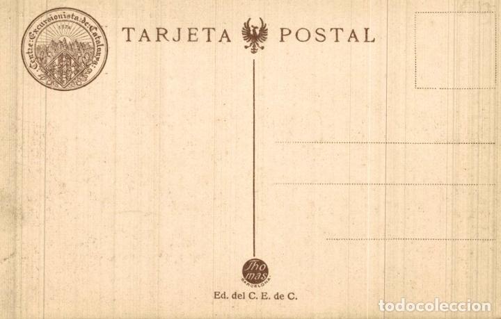 Postales: PIRENEU CATALÁ. (SERIE 1). Nº2. ULL DE TER XALET I REFUGI ( - Foto 2 - 182671840