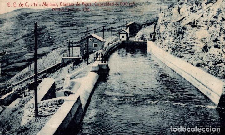 LLEIDA ( CAPDELLA ) MOLINOS CAMARA DE AGUA. E.E. DE C. (Postales - España - Cataluña Antigua (hasta 1939))