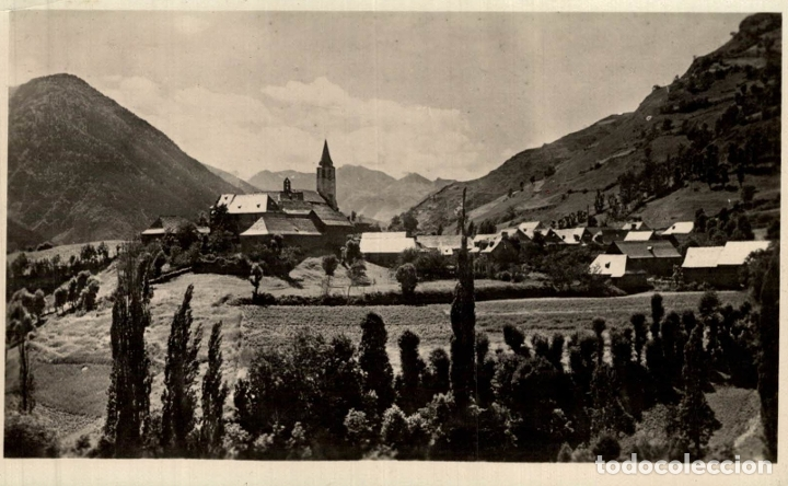 VALL D' ARAN UNYÁ VISTA GENERAL. - FOTOGRAFICA (Postales - España - Cataluña Antigua (hasta 1939))