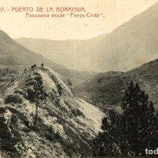 Postales: PUERTO DE LA BONAIGUA PANORAMA DESDE PENYA CRIDA. Lote 182679310