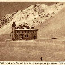 Postales: VALL D'ARAN CIM DEL PORT DE LA BONAIGUA EN PLE HIVERN. Lote 182679325