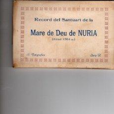 Postales: MARE DE DEU DE NURIA. RECORD SANTUARI. COMPLETO. Lote 182708755
