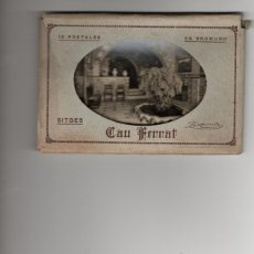 Postales: SITGES. CAU FERRAT. 10 POSTALES.COMPLETO. Lote 182710685