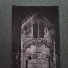 Postales: POSTAL TARRAGONA- SEPULCRO DEL ARZOBISPO D. JUAN DE ARAGON EN LA CATEDRAL. Lote 182794450