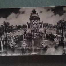 Postales: POSTAL BARCELONA. PARQUE DE LA CIUDADELA. CASCADA. Lote 182794595